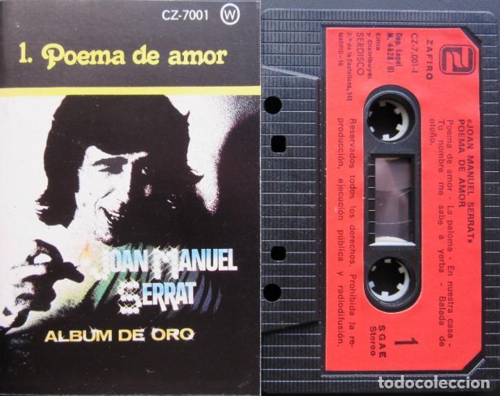 JOAN MANUEL SERRAT - POEMA DE AMOR - ALBUM DE ORO 1 (Música - Casetes)