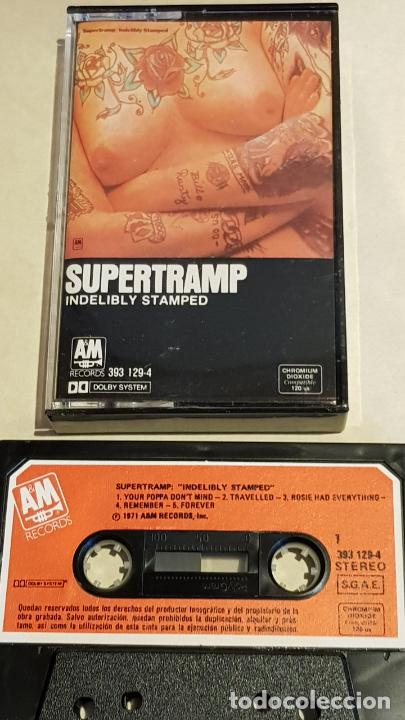 SUPERTRAMP / INDELIBLY STAMPED / MC - AM RECORDS-1985 / IMPECABLE. (Música - Casetes)