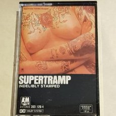 Cassette antiche: SUPERTRAMP / INDELIBLY STAMPED / MC - AM RECORDS-1985 / IMPECABLE.. Lote 211879175
