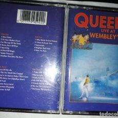 Casetes antiguos: 2 CASETES QUEEN LIVE AT WEMBLEY 86. Lote 212149632