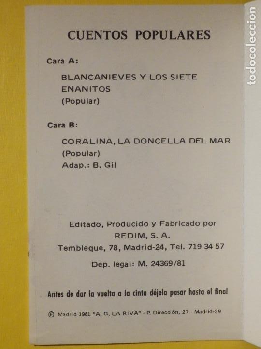 Casetes antiguos: Cinta de Cassette - Cuentos Infantiles - Blancanieves . Corralina, La doncella del mar - Redim 1981 - Foto 2 - 213443861