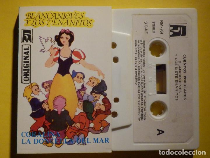 CINTA DE CASSETTE - CUENTOS INFANTILES - BLANCANIEVES . CORRALINA, LA DONCELLA DEL MAR - REDIM 1981 (Música - Casetes)