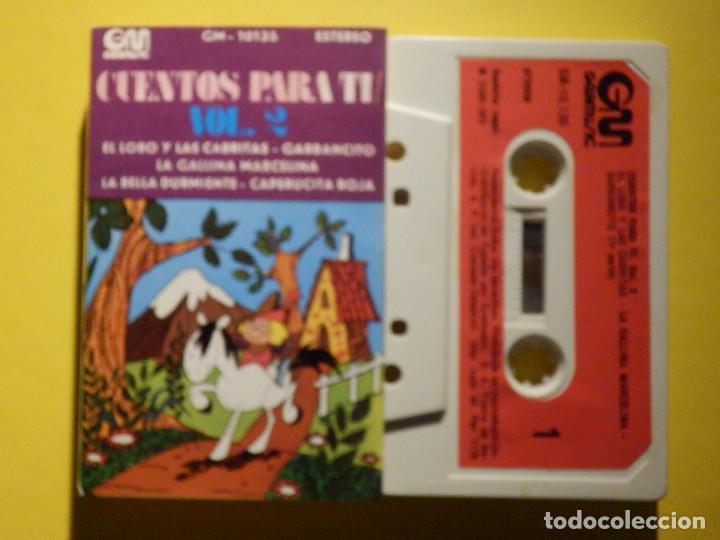 CINTA DE CASSETTE - CUENTOS PARA TI VOL. 2 - EL LOBO Y LAS CABRITAS, LA GALLINA MARCELINA - GM 1973 (Música - Casetes)