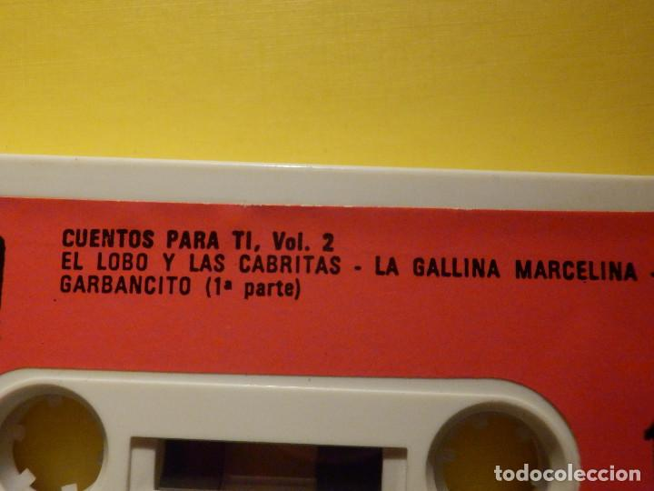 Casetes antiguos: Cinta de Cassette - Cuentos para ti Vol. 2 - El lobo y las cabritas, La gallina Marcelina - GM 1973 - Foto 2 - 213443883