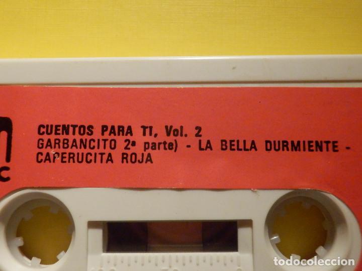 Casetes antiguos: Cinta de Cassette - Cuentos para ti Vol. 2 - El lobo y las cabritas, La gallina Marcelina - GM 1973 - Foto 3 - 213443883