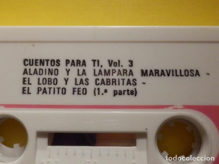 Casetes antiguos: Cinta de Cassette - Cuentos para ti Vol. 3 - Aladino y lámpara maravillosa, El patito feo - GM 1973 - Foto 2 - 213443886
