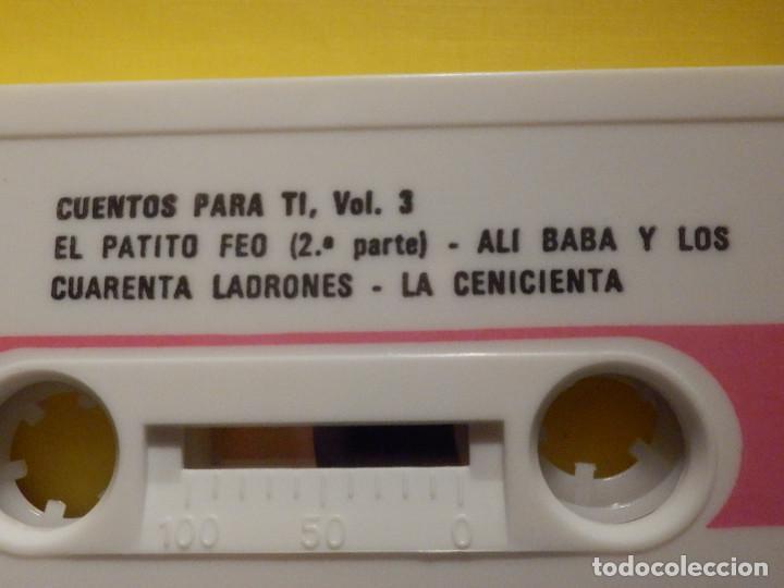 Casetes antiguos: Cinta de Cassette - Cuentos para ti Vol. 3 - Aladino y lámpara maravillosa, El patito feo - GM 1973 - Foto 3 - 213443886