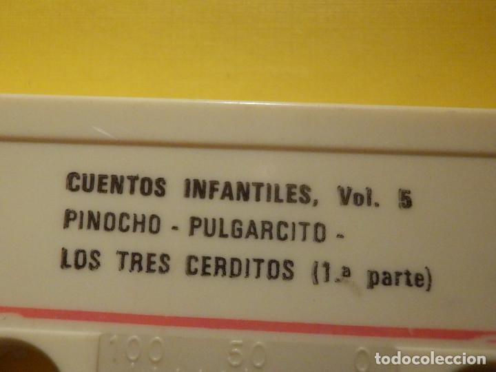 Casetes antiguos: Cinta de Cassette - Cuentos para ti Vol. 5 - Garbancito, Pinocho, Los tres cerditos - GM 1978 - Foto 2 - 213443906
