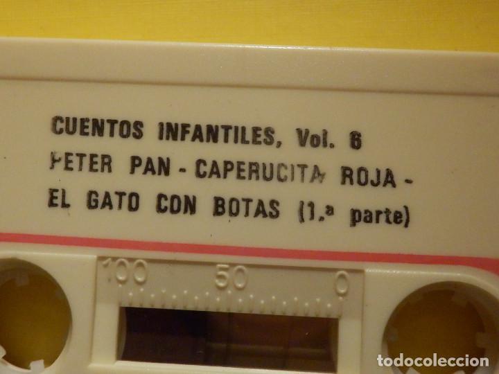 Casetes antiguos: Cinta de Cassette - Cuentos para ti Vol. 6 - Peter Pan, Pinocho, El gato con botas - GM 1978 - Foto 2 - 213443917