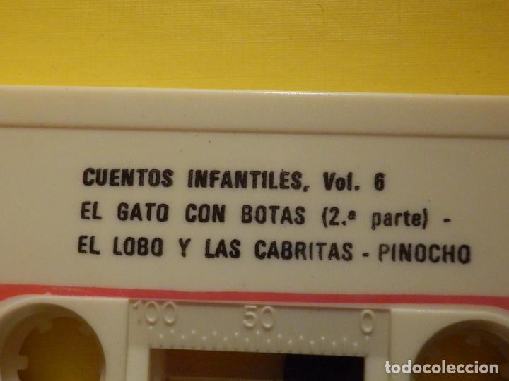 Casetes antiguos: Cinta de Cassette - Cuentos para ti Vol. 6 - Peter Pan, Pinocho, El gato con botas - GM 1978 - Foto 3 - 213443917