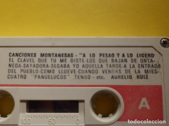 Casetes antiguos: Cinta de Cassette - CANCIONES MONTAÑESAS - A LO PESAO Y A LO LIGERO, AURELIO RUIZ - GM 1978 - Foto 2 - 213444003
