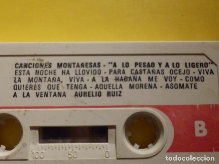 Casetes antiguos: Cinta de Cassette - CANCIONES MONTAÑESAS - A LO PESAO Y A LO LIGERO, AURELIO RUIZ - GM 1978 - Foto 3 - 213444003