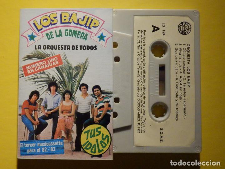CINTA DE CASSETTE - LOS BAJIP DE LA GOMERA - ORQUESTA - CANARY RECORDS 1982 (Música - Casetes)