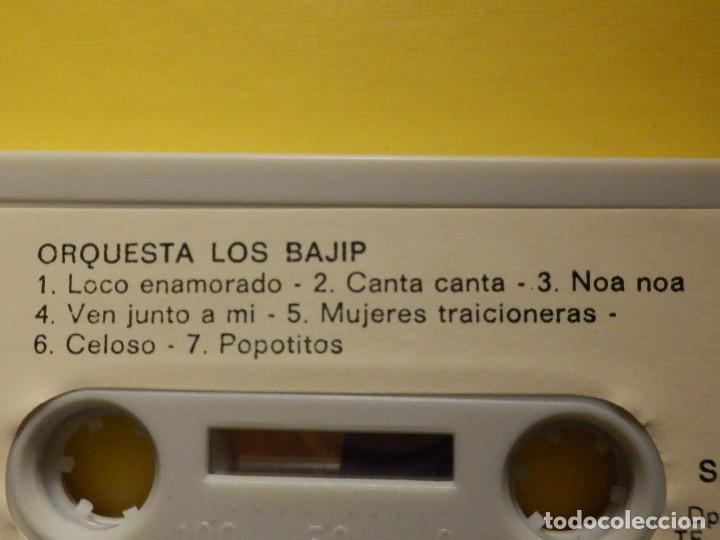 Casetes antiguos: Cinta de Cassette - Los Bajip de la Gomera - Orquesta - Canary Records 1982 - Foto 3 - 213444040