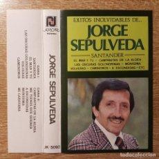 Casetes antiguos: CASETE ÉXITOS INOLVIDABLES DE JORGE SEPÚLVEDA. . BOLERO.. Lote 214054245