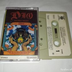 Casetes antiguos: CASSETTE DIO - SACRED HEART. Lote 214712542