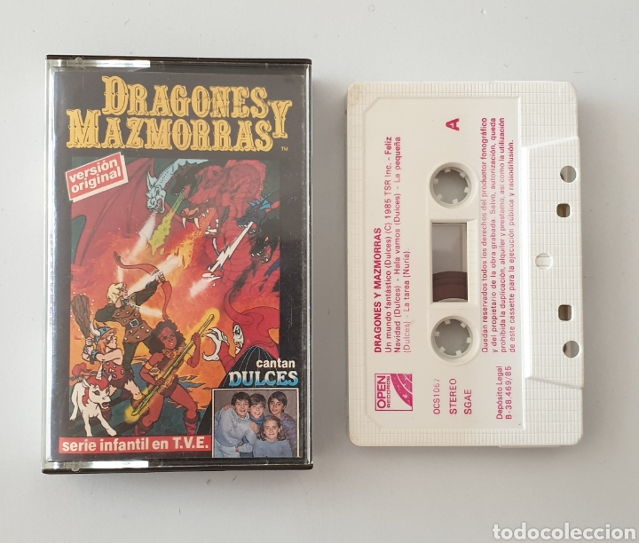 CASSETTE SERIE DRAGONES Y MAZMORRAS (OPEN, 1985) CANTAN GRUPO DULCES - MUY DIFÍCIL!! (Música - Casetes)