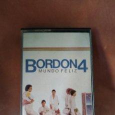 Cassette antiche: BORDON 4 - MUNDO FELIZ - EMI - 1984 - CASETE. Lote 215377082