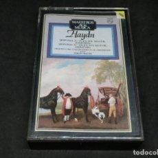 Cassettes Anciennes: CASETE - MAESTROS DE LA MÚSICA - HAYDN - COLIN DAVIS SINFONÍA 92 EN SOL MAYOR OXFORD 100 MILITAR. Lote 215619870