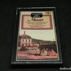 Cassettes Anciennes: CASETE MAESTROS DE LA MÚSICA MOZART SINFONIA 40 EN SOL MENOR K 350 41 DO MAYOR K 551 JÚPITER KARAJAN. Lote 215624011
