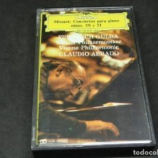 Cassettes Anciennes: CASETE - MOZART - CONCIERTOS PARA PIANO 20 T 21 CLAUDIO ABBADO FILARMÓNICA DE VIENA. Lote 215625516