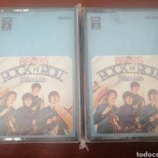 Casetes antiguos: 2 K7 THE BEATLES ROCK N ROLL MUSIC 1976 CASSETTE CASETE CINTA. Lote 216881753