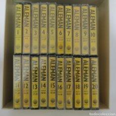 Casetes antiguos: CURSO DE ALEMÁN PLANETA AGOSTINI, AÑO 1996, 20 CINTAS CASETE, CASSETTES. Lote 217044215