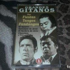 Casetes antiguos: GRANDES GITANOS. POR FIESTAS, TANGOS, FANDANGOS 1. EDICION KNIFE. RARA. Lote 217058807