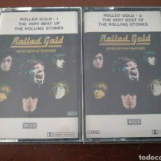 Cassette antiche: 2 K7 THE ROLLING STONES ROLLED GOLF THE VERY BEST OF CASSETTE CASETE CINTA. Lote 217468310