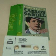 Casetes antiguos: CARLOS GARDEL - GRANDES EXITOS - (CAJ-3). Lote 218161696