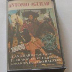Casetes antiguos: ANTONIO AGUILAR - 14 GRANDES EXITOS - (CAJ-4). Lote 218271710