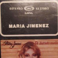 Casetes antiguos: MARIA JIMENEZ DE DISTINTO MODO. Lote 218696427