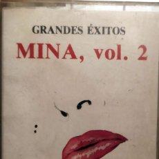 Casetes antiguos: MINA GRANDES EXITOS VERSIONES ORIGINALES VOL. 2 1989. Lote 218706100