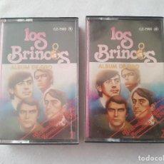 Casetes antiguos: LOTE 2 CASETE LOS BRINCOS - 1981. Lote 218712126