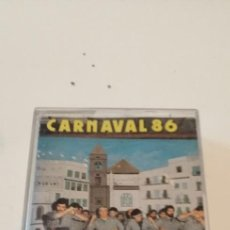 Casetes antiguos: GC-96 CINTA CASETE MUSICA CARNAVAL DE CADIZ CARNAVAL 86. CARGAORES GADITANOS. COMPARSA DE BARBATE.. Lote 218748975
