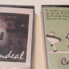 Casetes antiguos: GC-96 CINTA CASETE MUSICA LOTE DE DOS CINTA CANDEAL LOS DE FOTO UNO NUEVO. Lote 218749071
