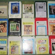 Casetes antiguos: LOTE 20 CARTUCHOS CASSETTE STEREO 8 DE MÚSICA VARIADA (LEER DESCRIPCIÓN PARA LISTADO). COMPROBADOS.. Lote 218834612