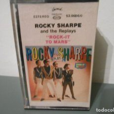 Casetes antiguos: ROCKY SHARPE - ROCK - IT TO MARS. Lote 218870197