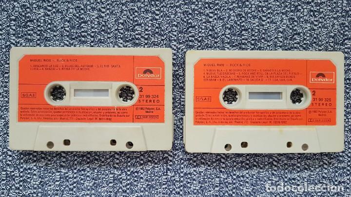 Casetes antiguos: Miguel Rios - Rock & Rios.(casete doble) editado por Polydor. año 1.982 - Foto 4 - 219533266