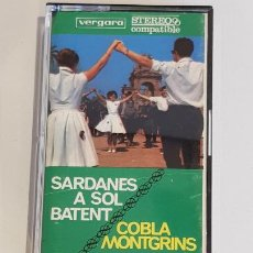 Casetes antiguos: COBLA MONTGRINS / SARDANES A SOL BATENT / MC - VERGARA-1970 / IMPECABLE.. Lote 220678590