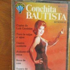 Casetes antiguos: CONCHITA BAUTISTA - COPLAS DE LUIS CANDELAS - TUVO LA CULPA EL AGUA TORERO DE ESPAÑA - ETC CASSETTES. Lote 220890993