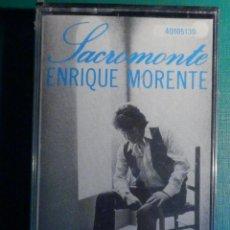 Casetes antiguos: CINTA DE CASSETTE - CASETE - ENRIQUE MORENTE - SACROMONTE - ZAFIRO - PRECINTADA. Lote 221297508