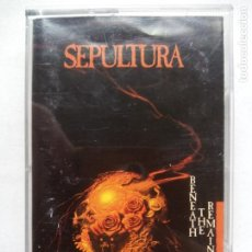 Casetes antiguos: SEPULTURA. BENEATH THE REMAINS. CASETE ROADRACER RECORDS RO-9511-4. EU 1989. TRASH METAL.. Lote 221392106