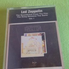 Casetes antiguos: CASSETTE , LED ZEPPELIN , THE SONG REMAINS THE SAME, THE SOUNDTRACK FROM THE FILM, VER FOTOS. Lote 221497283