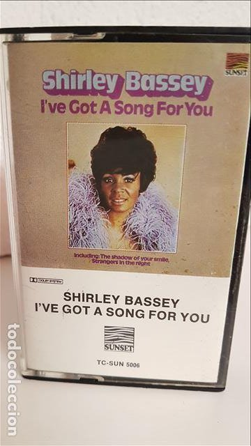 CAS SHIRLEY BASSEY , I'VE GOT A SONG FOR YOU 1976 - SHIRLEY BASSEY (Música - Casetes)