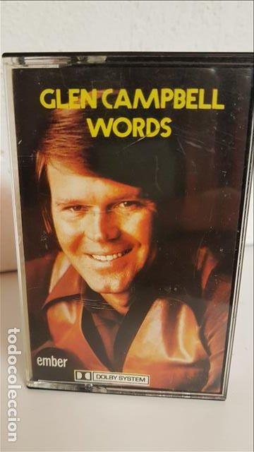 CAS GLEN CAMPBELL , WORDS 1973 - GLEN CAMPBELL (Música - Casetes)