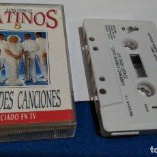 Casetes antiguos: CASET CINTA CASSETTE ( LOS CINCO LATINOS - VEINTE GRANDES CANCIONES MC 1 ) 1991 SONY. Lote 221623081