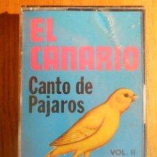 Casetes antiguos: CINTA CASSETTE - EL CANARIO - CANTO DE PÁJAROS - VOL.II - AFRODITA - PRECINTADA. Lote 221698412