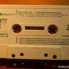 Casetes antiguos: CINTA CASSETTE - LA VOZ DE LORENZO GONZÁLEZ - EMI 1977. Lote 221712946