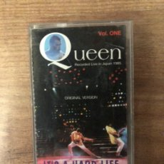 Casetes antiguos: QUEEN ITS A HARD LIFE VOL 1 (RECORDED LIVE IN JAPAN 1985) CASSETTE. Lote 221957747